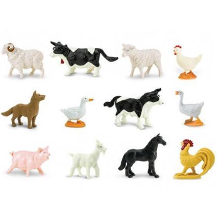 animaux de la ferme en plastique