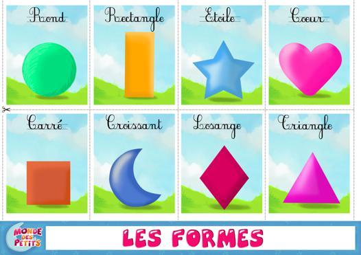 apprendre les formes