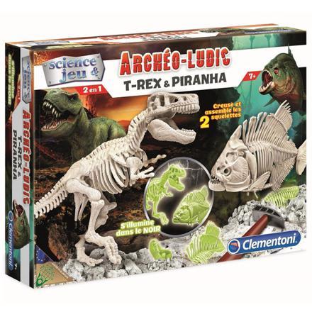 archeo ludic t rex et piranha