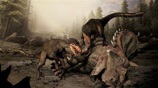 attaque dinosaure