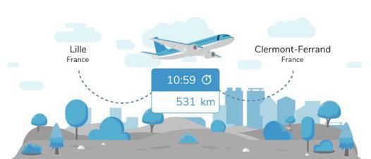 avion lille clermont ferrand