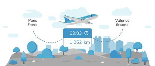 avion valence paris