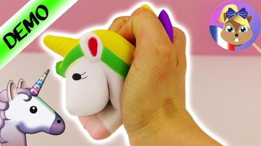 balle anti stress licorne