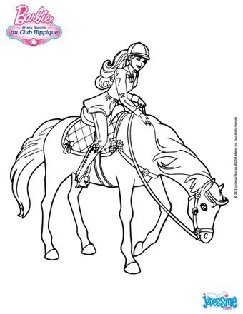 barbie cheval coloriage
