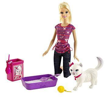 barbie et son chat