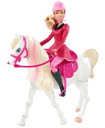 barbie et son cheval de concours