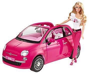 barbie fiat 500 rose