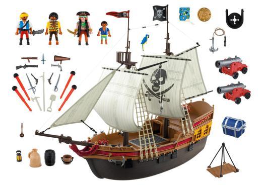 bateau d attaque des pirates playmobil