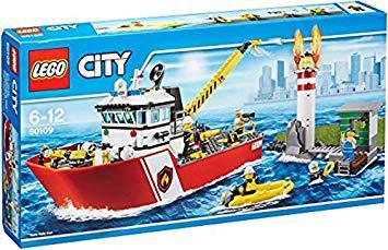 bateau pompier lego