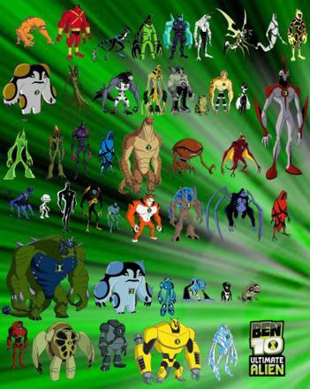ben 10 tout les alien