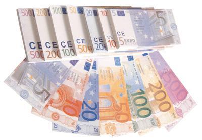 billet factice euro