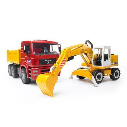camion et pelleteuse