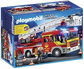 camion playmobil pompier