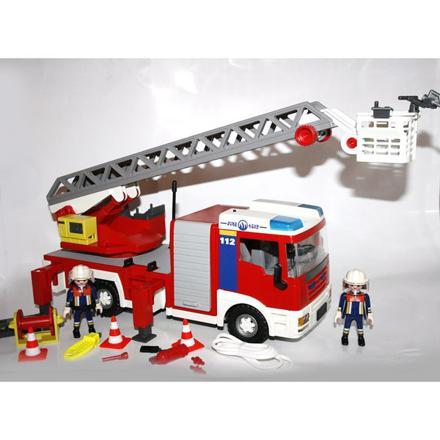 camion pompier grande echelle playmobil
