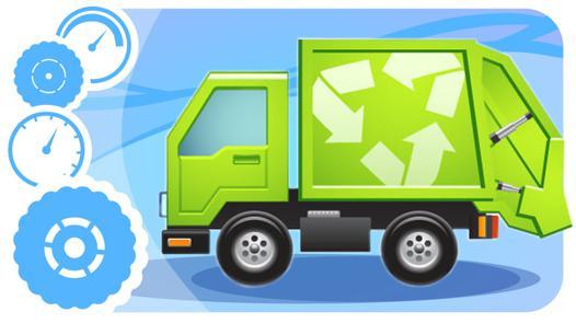 camion poubelle dessin animé