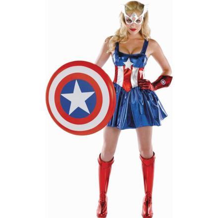 captain america femme deguisement