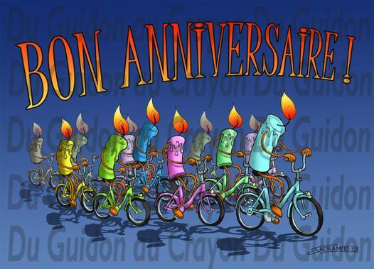 carte anniversaire cycliste