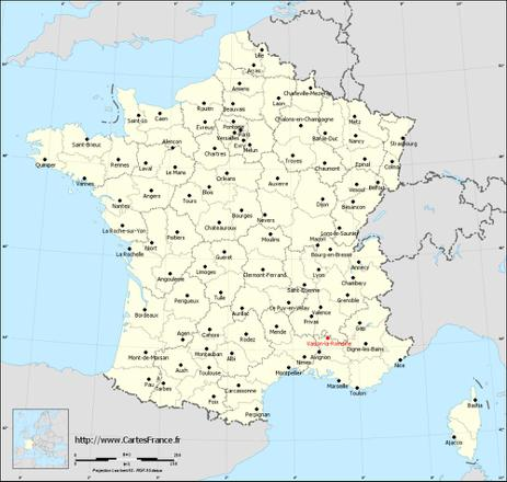 carte de france vaison la romaine