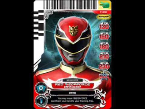 carte power rangers megaforce