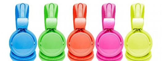 casque audio fluo