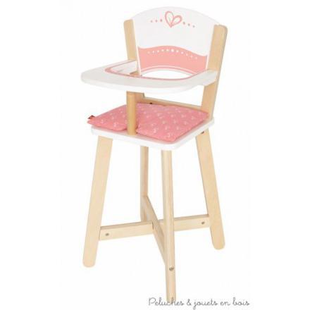 chaise haute bois poupee