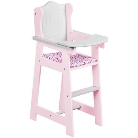 chaise haute jouet en bois