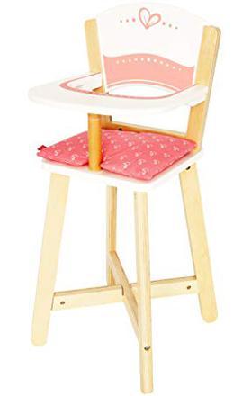 chaise haute poupee bois