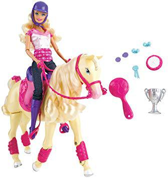 cheval barbie qui marche