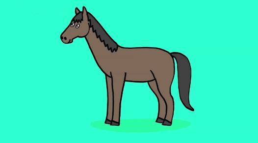 cheval facile a dessiner