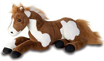 cheval peluche