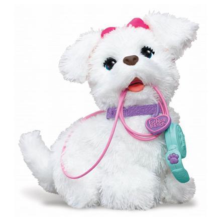 chien avec laisse jouet