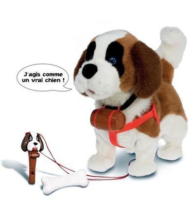 chien qui marche et aboie jouet