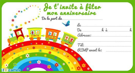 invitation anniversaire train