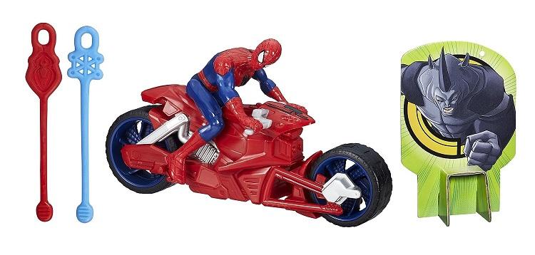 spider man avec sa moto