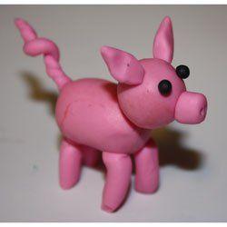 cochon en pâte à modeler