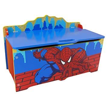 coffre a jouet spiderman