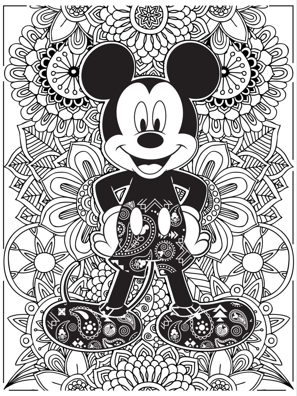 coloriage adulte disney