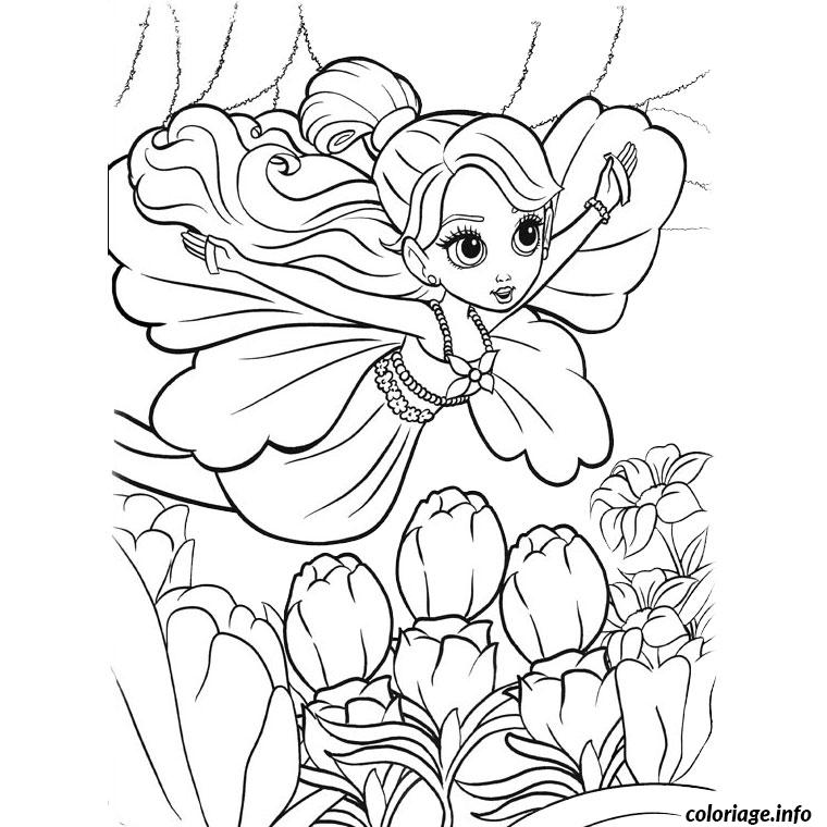 coloriage barbie papillon