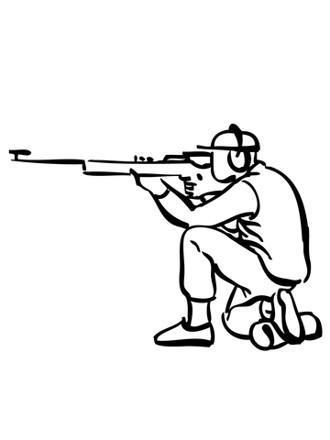 coloriage carabine