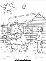 coloriage centre equestre