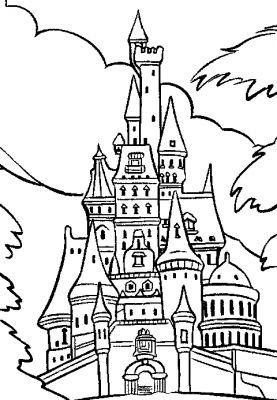coloriage chateau princesse disney