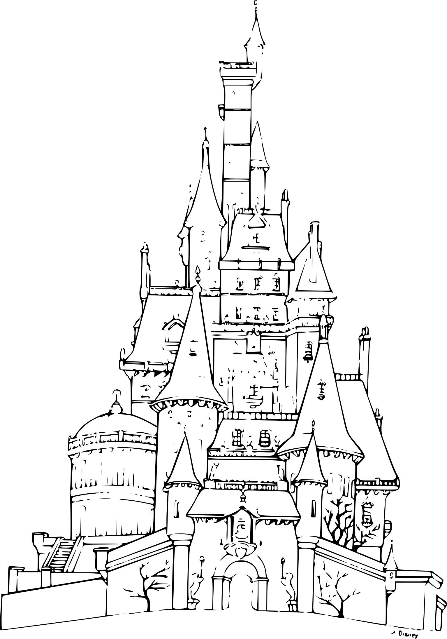 coloriage chateau reine des neiges
