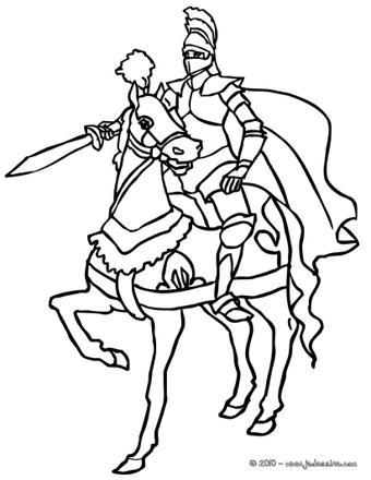 coloriage de chevalier