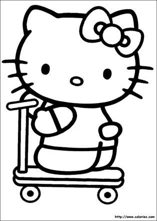 coloriage de kitty