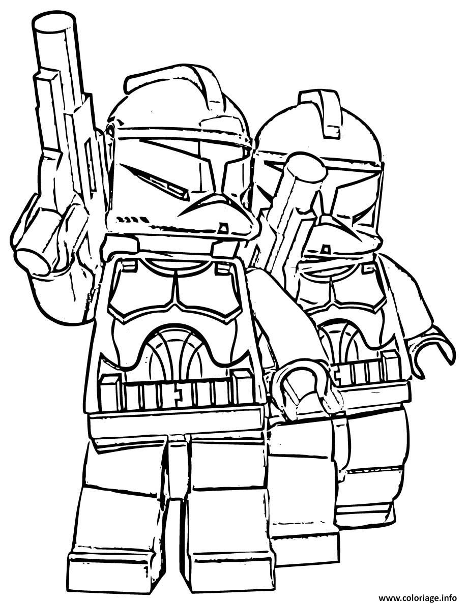 coloriage de lego star wars