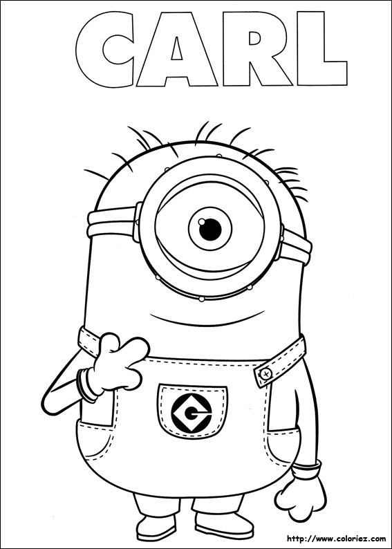 coloriage de minion