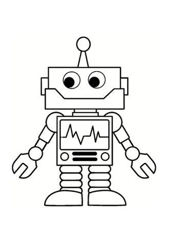 coloriage de robot