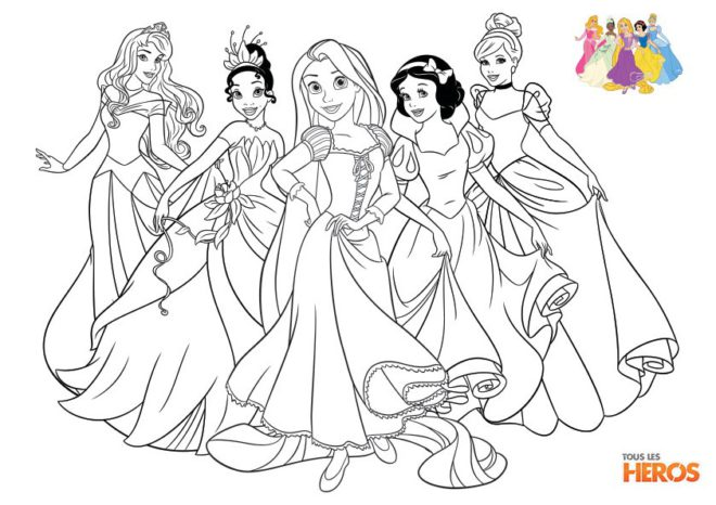 coloriage disney princesse