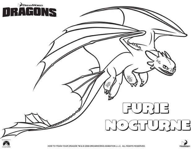 coloriage dragon 2
