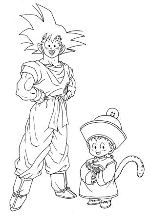 coloriage dragon ball super